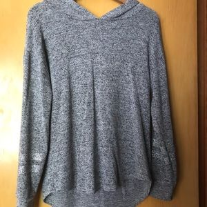 Gray justice sweater